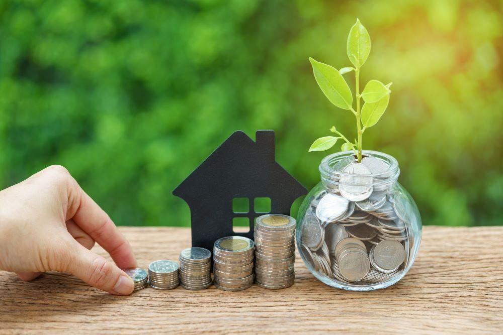 Coin stacks savings growth